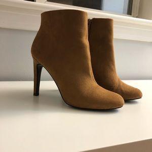 Heeled khaki/light brown bootie